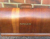 Antique Singer full size bentwood Sewing Machine Top Case Only
