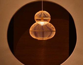 Bamboo pendant light etsy arturest handicraft bamboo gourd ceiling light rustic artistic lampshades bamboo pendant lamp for bedroom living room aloadofball Choice Image