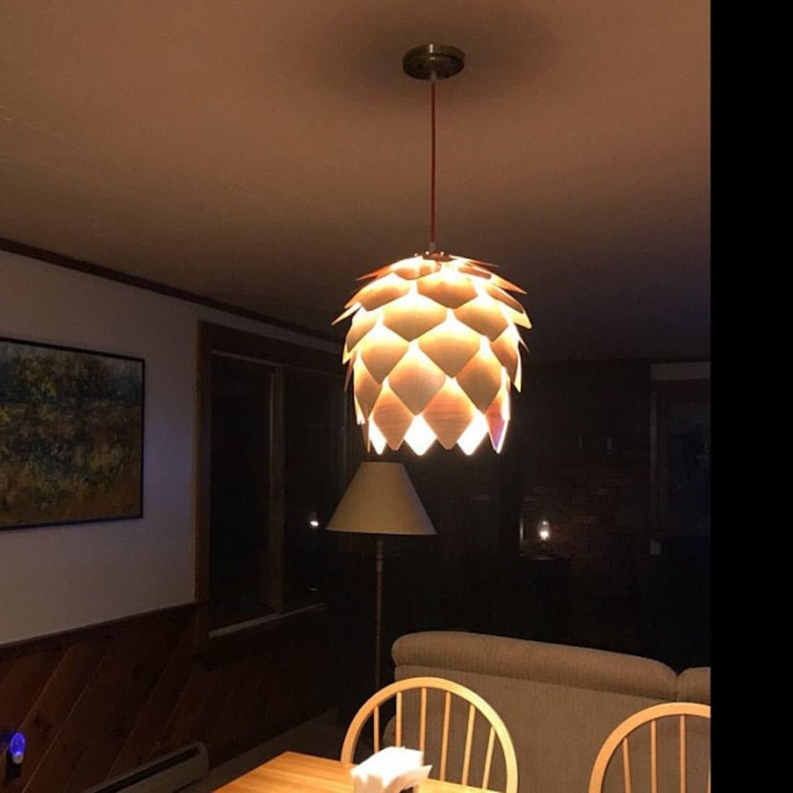 Arturest Wood Chandelier Nordic Wooden Pendant Light Handcraft Light Fixture Art Decorative Lighting Fixtures Warm Home