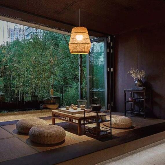 Arturest Handwerk Bambus Hangelampe Japanische Wohnzimmer Etsy