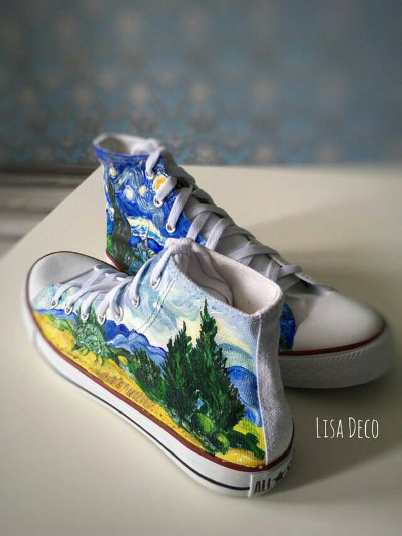4a4ef22f3a6e2 Van Gogh Converse by Lisa Deco