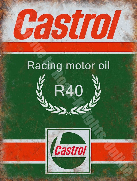 CASTROL OIL GARAGE METAL SIGN RETRO VINTAGE STYLE SMALL shed man cave tin room