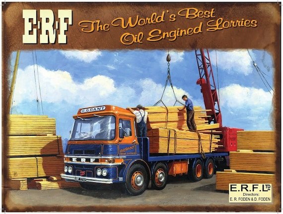 FODEN TRUCKS SALES SERVICE   METAL TIN SIGN POSTER WALL PLAQUE