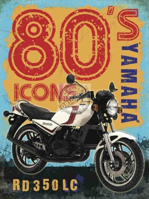 YAMAHA RD 350 LC CLASSIC VINTAGE BIKER ENTHUSIAST T SHIRT