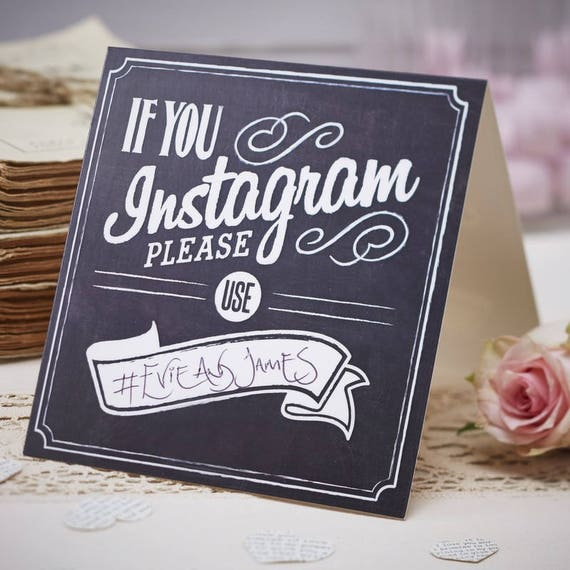If You Instagram Table Tent Signs Vintage Affair Etsy - Table tent signs