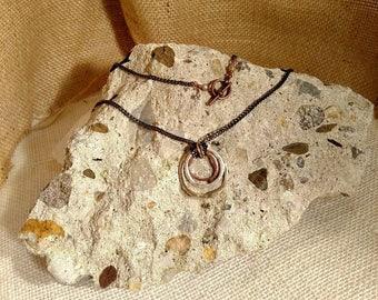 Circle Necklace of Mixed Metals