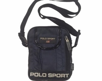 9aa759c2e260 Vintage Polo Sport Ralph Lauren cross body Bag Navy FreeShipping.