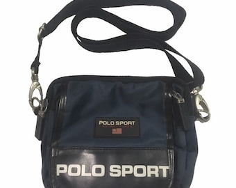 Vintage Polo Sport Ralph Lauren cross body Bag Navy FreeShipping. 1a2a7009dcf98