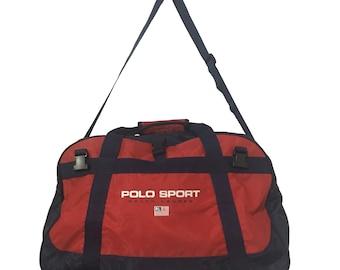 Vintage90s Polo Sport Ralph Lauren Duffel Bag FreeShipping. ab92d6e5a1c2b