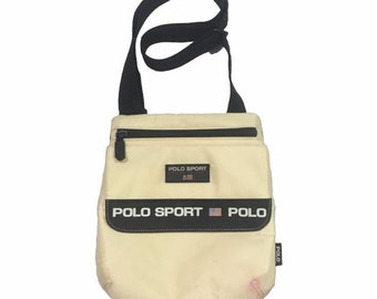 565b41da7dd1 Vintage Polo Sport Ralph Lauren Cross Body Bags White FreeShipping.