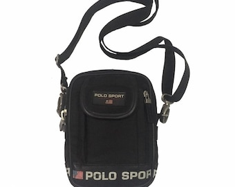 b95048a5af9a Vintage Polo Sport Ralph Lauren cross body Bag Black FreeShipping.