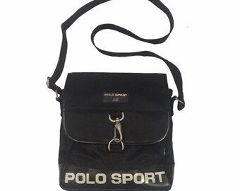 edf54ee410 Vintage90s Polo Sport Cross Body Bag Black FreeShipping.