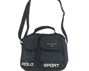 0a457d16b60 Vintage90s Polo Sport Cross Body Bag Navy FreeShipping.