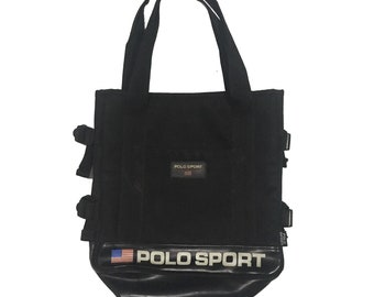 a0facf8e69cf Vintage Polo Sport Ralph Lauren Black Totes Bag FreeShipping.