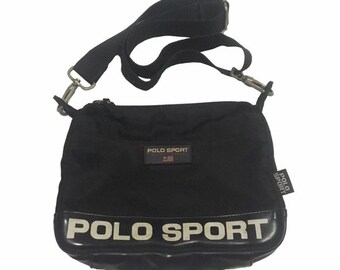 b47df49c0696 Vintage Polo Sport Ralph Lauren Cross Body Bags Black FreeShipping.