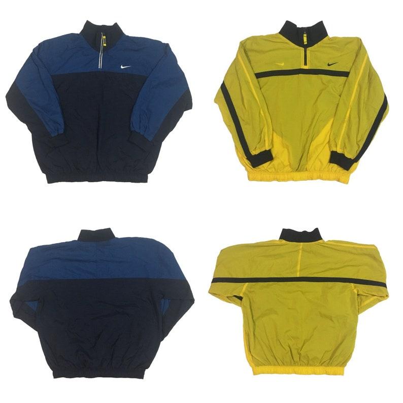 754574ff83e9 Vintage Nike Half zip Windbreaker Jacket Reverse Size. L   90s