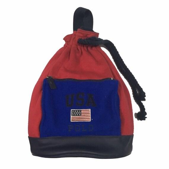 Vintage90s Polo Sport USA Bag /Two Tone / Cross Bo