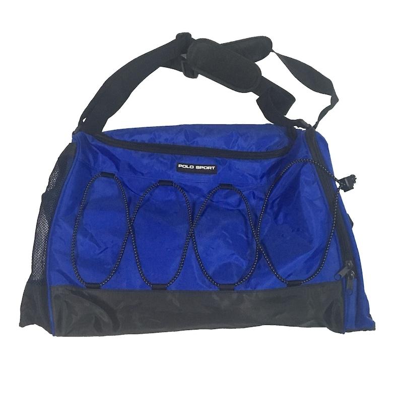 5721d0b940 Vintage Polo Sport Ralph Lauren 2Tone Black Blue Duffel Bag
