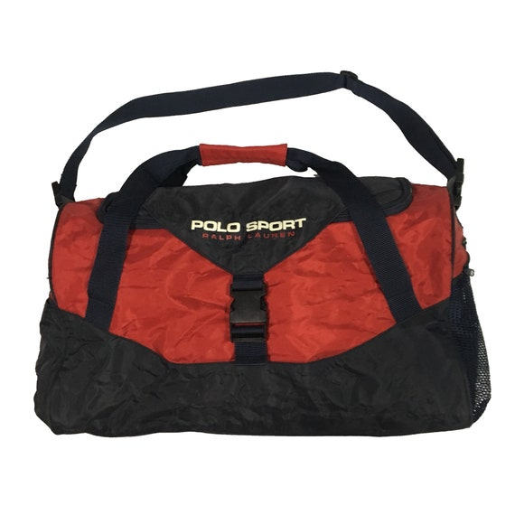 9dc31372f1 Vintage Polo Sport Ralph Lauren 2Tone Black Red Duffel Bag