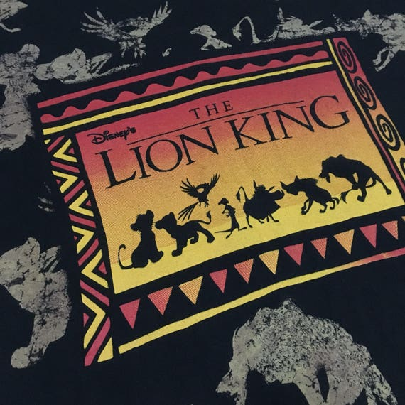 FreeShipping XL Size Vintage90s The Lion King qawpXO6
