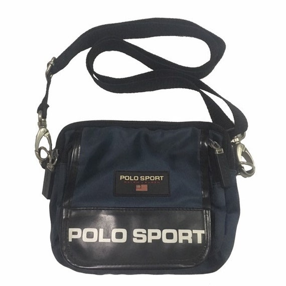 6c5120bc41ec Vintage Polo Sport Ralph Lauren cross body Bag Navy