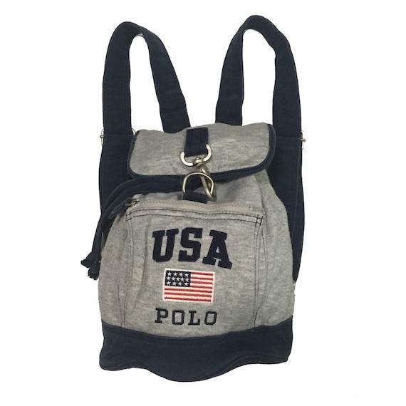 bc709fb4947 Vintage90s Polo Sport U.S.A Bag Mini rucksack FreeShipping.   Etsy