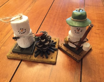 fcceb7d9236 Midwest-CBK - Marshmallow Ornaments - Lot of 2