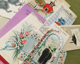 Graduation Cards - Lot of 21 - Vintage - 1950/1960