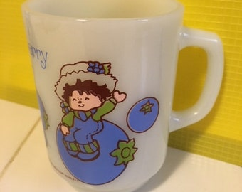 Anchor Hocking - Huckleberry Pie Mug - Vintage