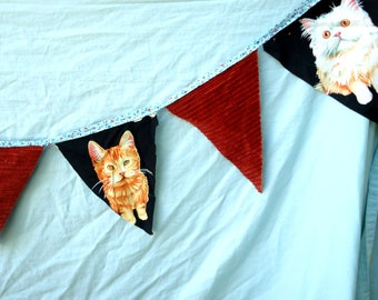 Party flags: cats/ orange