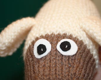 wild wooley knitted sheep