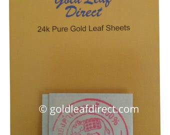 24K PURE EDIBLE 100% GOLD Leaf Sheets X 5