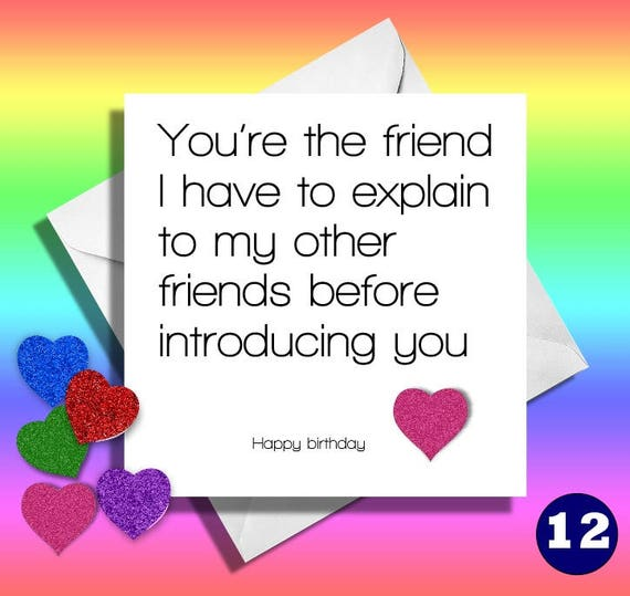 Funny Birthday Cardyoure The Friendgreetings Card Etsy