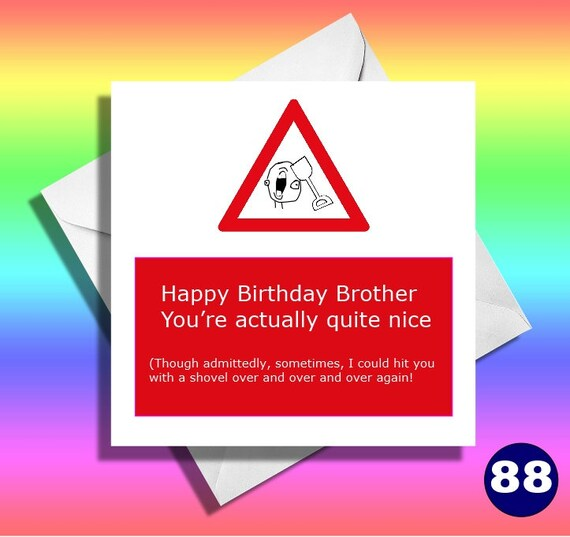 Funny Brother Birthday Card Greeting Cardsfunny