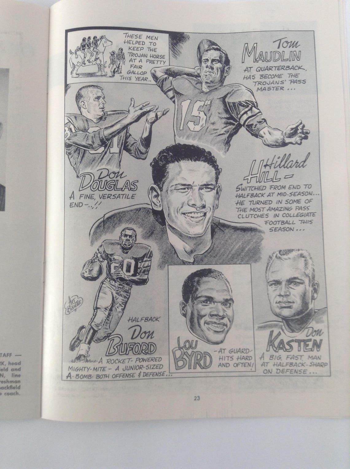 Pigskin Review USC vs. Norte Dame November 29 1958.  NCAA image 9