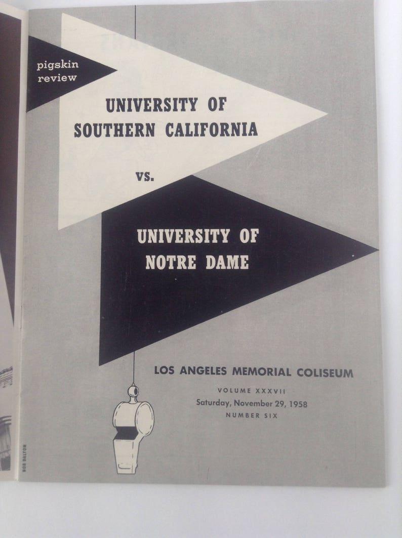Pigskin Review USC vs. Norte Dame November 29 1958.  NCAA image 2