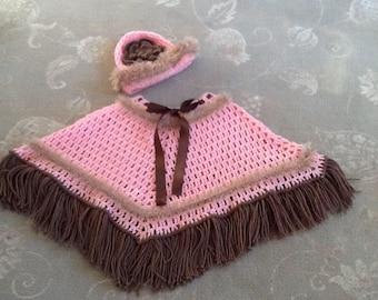 Beautiful handmade baby girls poncho.