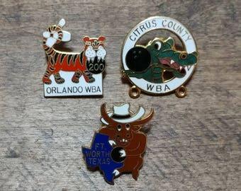 Set Of Bowling League Pins