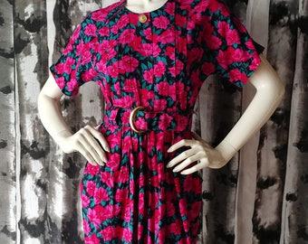 Fuchsia Flower Power Dress