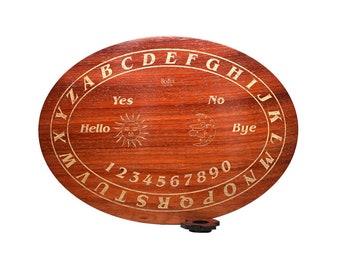 Wood Ouija board in African padauk  15 x 10.5 in