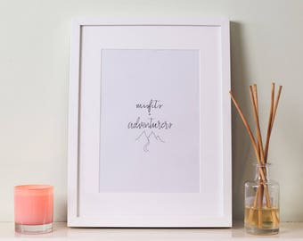 Adventure Lovers Gift // Outdoor explorer // Unframed Art Print // Unique Gifts // Gifts for Her // Gifts for Him