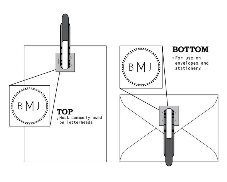 Mongoram Embosser Seal Custom Embosser Custom Monogram Embosser Embosser-LEK Custom Intial Embosser Mongoram Stamp Hand Held Embosser