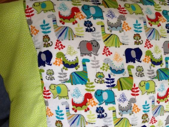 dinosaur fabric Flannel dinosaur standard pillowcase