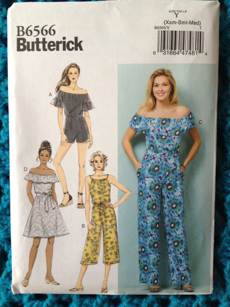 d2822a039fb Butterick 6566 Misses Dress Romper Jumpsuit Off the
