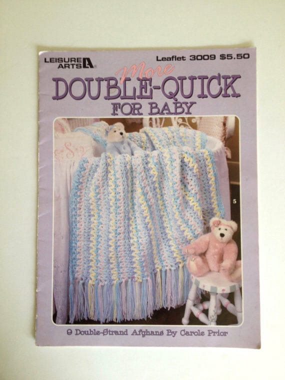 Double Quick Baby Blankets Baby Afghan Pattern Baby Wrap Etsy
