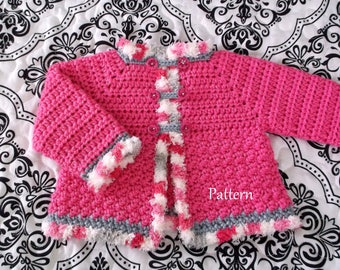 Crochet Baby PATTERN Baby Sweater Pattern Baby Girl's Sweater Sweater pattern Girl's Sweater Crochet Pattern