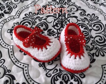 Baby Booties PATTERN Crochet Mary Janes Crochet Pattern Baby Booties Crochet Baby Shoes Crochet Pattern Crochet Pattern