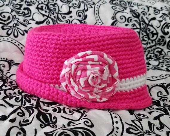 Crochet PATTERN Baby Fedora Hat Baby Hat Pattern Baby  9432f98a279