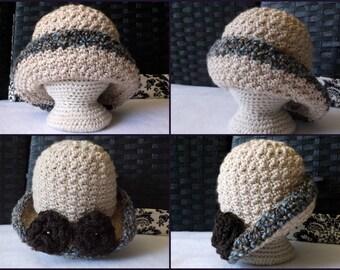 Crochet PATTERN Baby Girl's Hat Pattern Classic Baby Girl's Hat Pattern Brimmed Baby Hat Crochet Pattern Baby Girl Hat Pattern