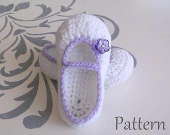 Crochet PATTERN Baby Girl's Booties Sizes 0 - 12 Months Baby Booties Baby Girl Pattern Baby Girl Bootie Pattern Crochet Pattern